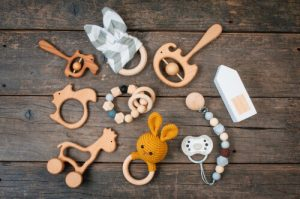 variety of baby teethers